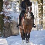 Sonja mit Cindy im Schnee