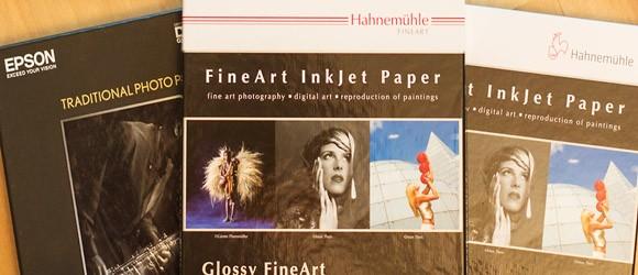 FineArt Papier von Hahnemühle und Epson