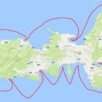Unsere Segelroute ab Portoferraio links rum ...