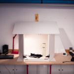 DIY Tischstudio aus Styroporplatten