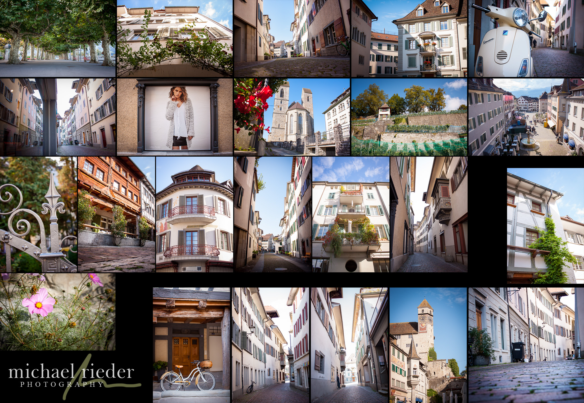 Photo-Walk-Talk Rapperswil, Collage aus einigen Impressionen | Michael Rieder Photography
