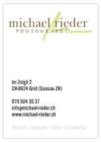 Michael Rieder Photography, CH-8624 Grüt (Gossau ZH), www.michael-rieder.ch