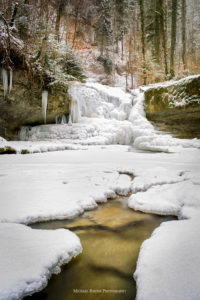 Kemptner Tobel, vorderer Wasserfall