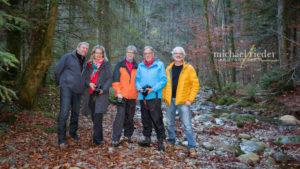 Gruppenfoto Fotokurs Kemptnertobel vom 11.11.2018